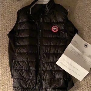 Sale tues only Canada goose black vest xl